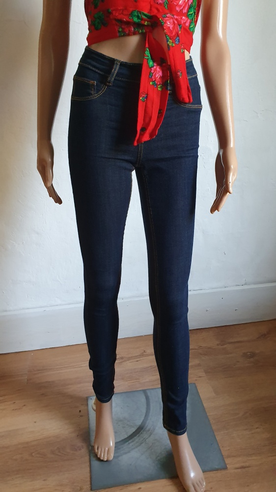 Spodnie Dopasowane tregginsy z wysokim stanem r XS