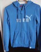Błękitna bluza Puma kaptur zamek suwak xs 34...