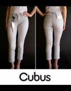 siwe spodnie Cubus xxs 32 jeansowe rurki jeansy...