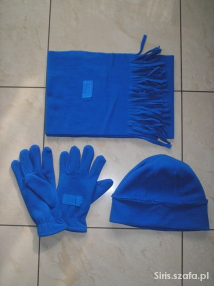 Nowy komplet czapka szalik i rękawiczki