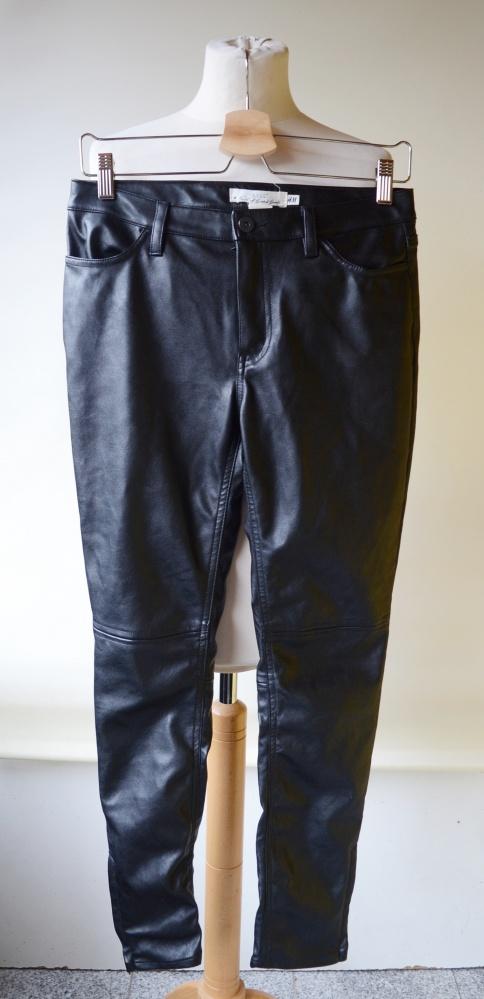 Spodnie Skórzane Eko Skóra S 36 H&M Logg Czarne...