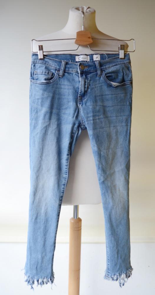 Spodnie Spodnie Jeans Cubus Poszarpane S 36 Dzinsowe Jeansowe