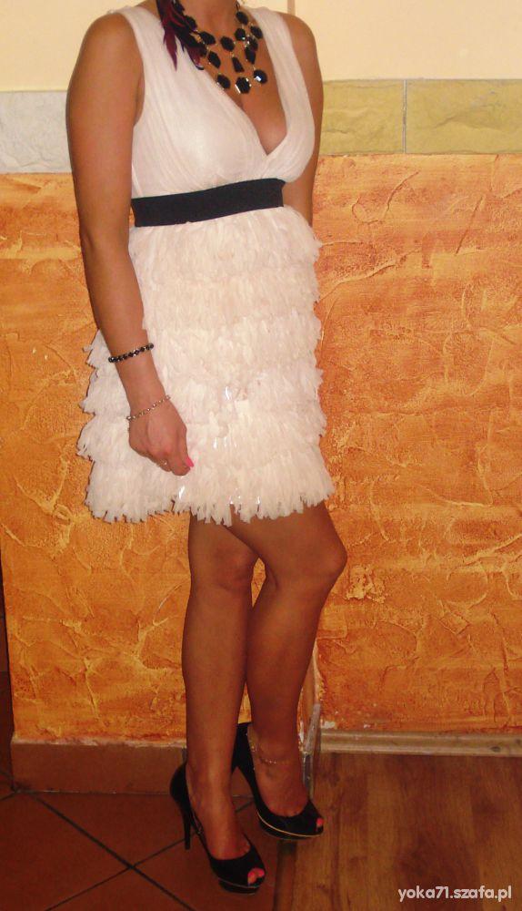 Suknie i sukienki Sukienka łososiowa HM