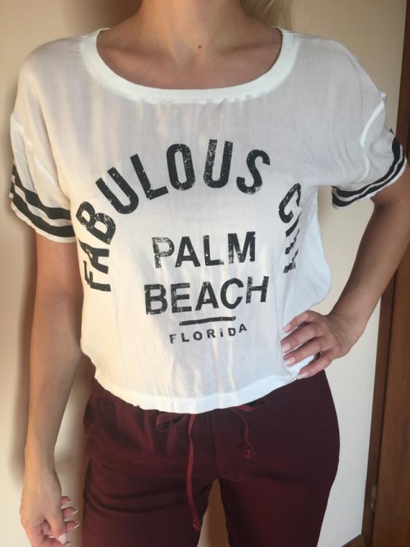 Tshirt koszulka biała napisy letnia...