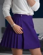 Piękna plisowana spódnica fiolet wysoki stan 40 L...