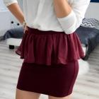 stylowa spódnica z baskinką burgund marki Amisu 36 S