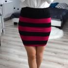 Fishbone ołówkowa modna spódnica wysoki stan paski 34 XS