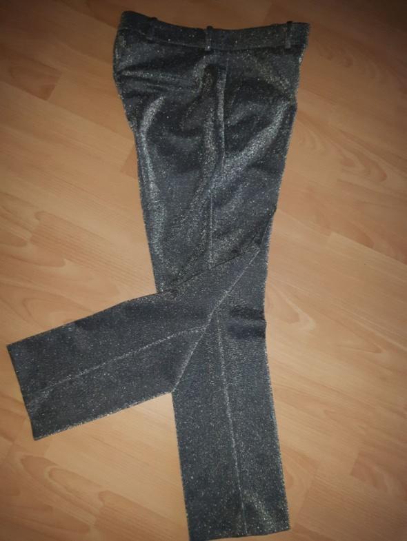 H&M srebrne spodnie rozm 40