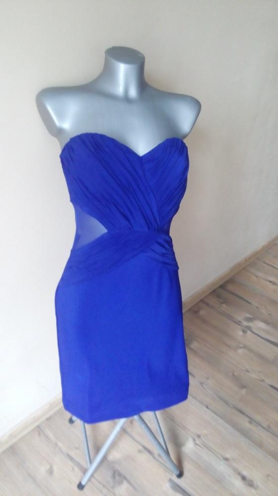 Fioletowa Lipsy London sukienka z wycięciami S M...