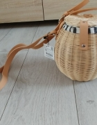 Torebka koszyk wicker bag ZARA nowy z metką...