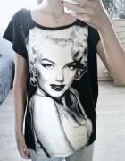 koszulka Marilyn Monroe bluzka czarna...