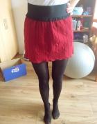 bordowa swetrowa spódniczka na gumce...