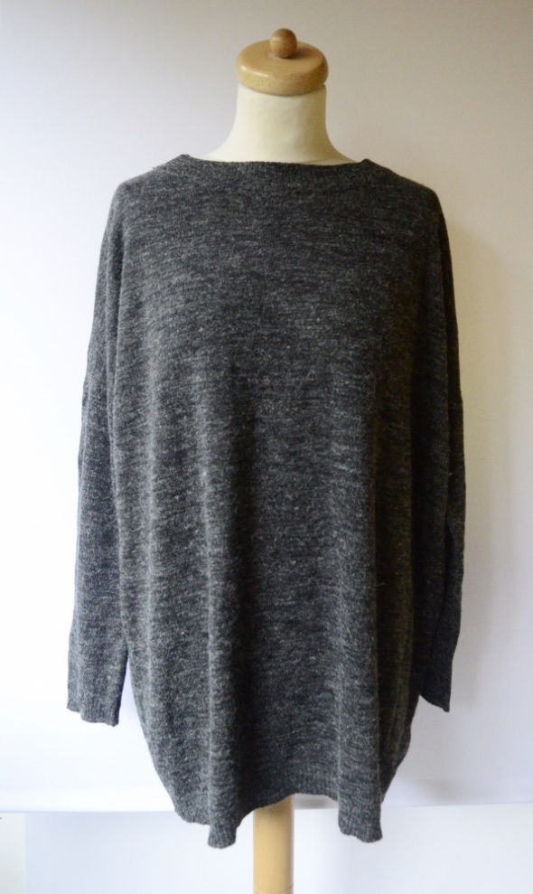Sweter Szary Melanż Vero Moda M 38 Oversize Szarość...