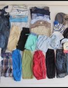 Zestaw ubrań chłopięcych rozmiar 74 i 80 ponad 30 sztuk...