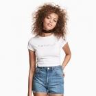 HM Coachella Haftowane jeansowe szorty z wysokim stanem 34