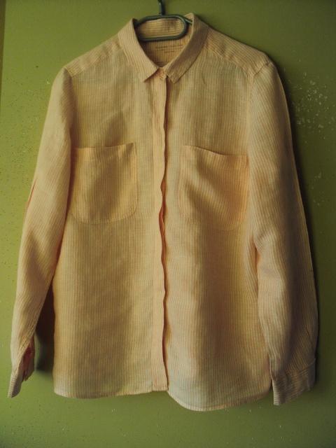 Koszule lniana różowa koszula w paseczki