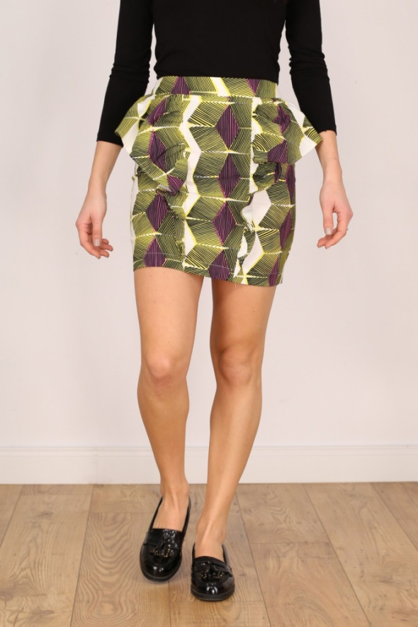 Spódnice Spódnica ZARA rozm 36 print neon geometryczna hit sexy mini
