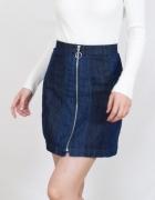 Spódnica H&M dżinsowa na suwak rozm 38 hit jeans...