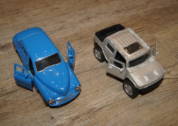Autka samochody zestaw niebieski srebrny...