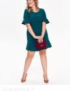 Sukienka top sekret midi butelkowa zieleń 46 xxl xxxl...