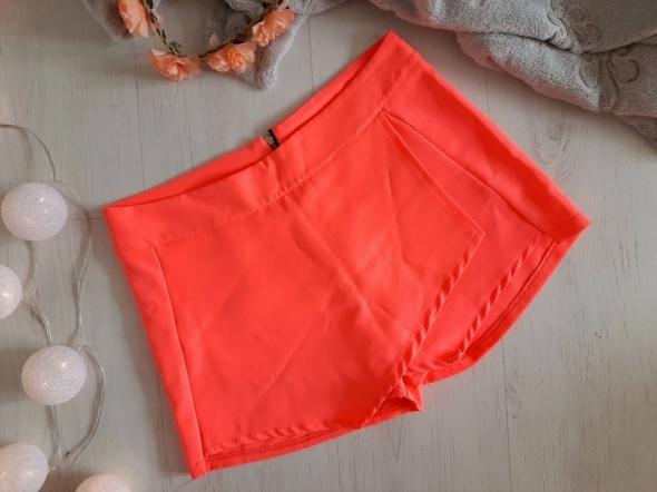 koralowe eleganckie zakładane spódnico spodenki S M