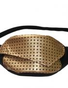 Nerka torebka na pas Tasiemasie czarna ze złotym Ekoskóra...