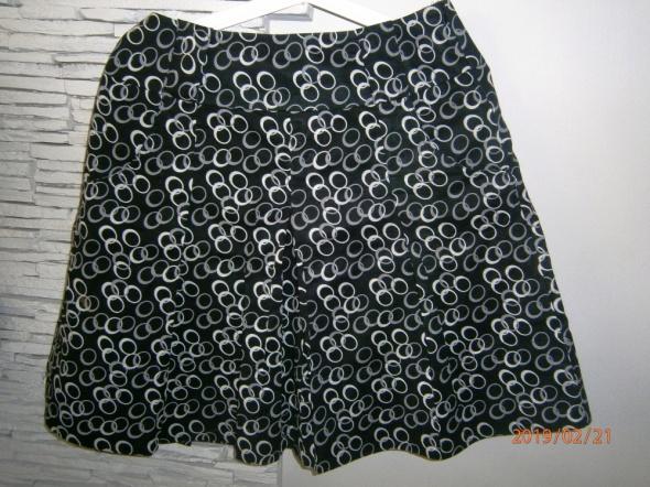Spódnice granatowa spódnica w kółka ESPRIT