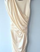 River Island kremowa sukienka bodycon grecka nude...