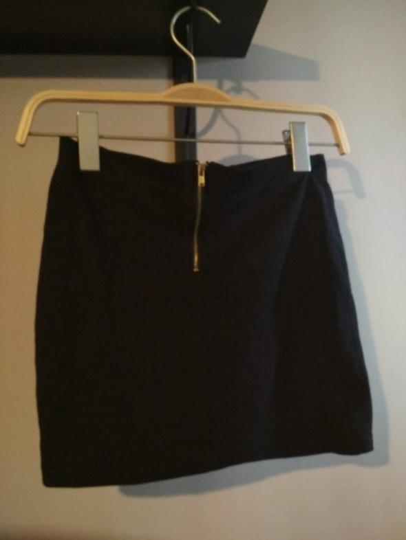 Spódnice Czarna mini s sinsay z zamkiem z tyłu