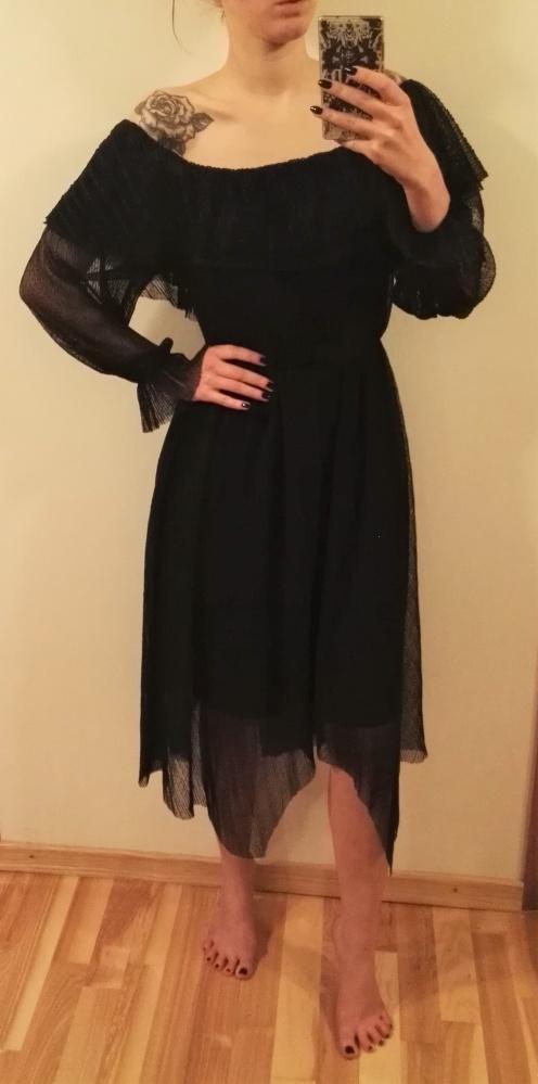 Mohito sukienka gothic gotycka carmen czarna 36 S 38 M