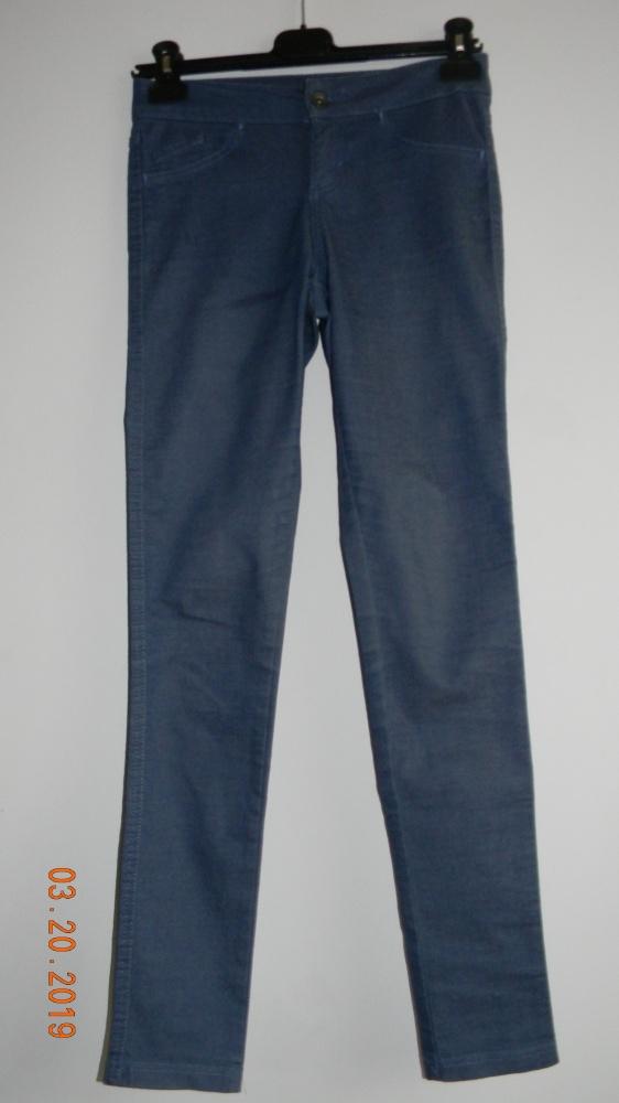 Super wygodne spodnie leginsy w kolorze niebieskim...