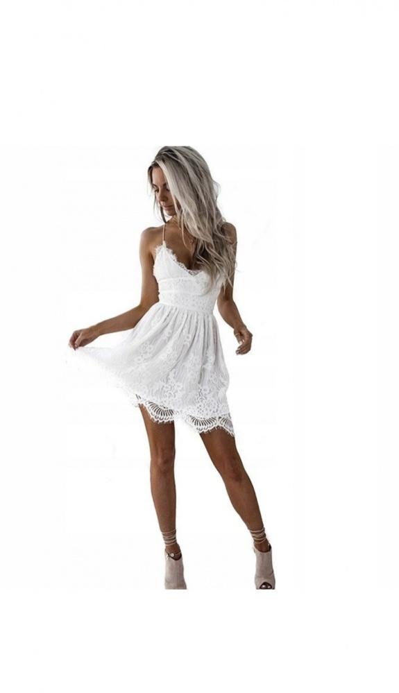Koronkowa sukienka typu boho...