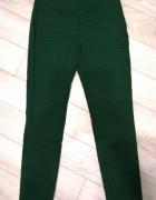 Materiałowe zielone spodnie w pepitkę Reserved rozm 36...