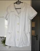 Clinic biała bluza medyczna fartuch krótki rękaw...