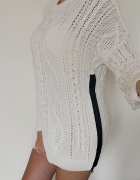 Top Secret Sweter damski zip ecru 38 M...