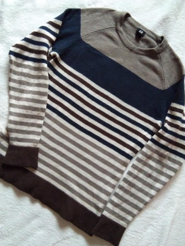 H&M sweter wełna r M...