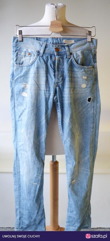 Spodnie Boyfriend 25x32 M 38 HM Jeans Przetarcia w Spodnie