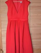 Nowa ASOS czerwona sukienka koktajlowa rozkloszowana pianka M L...