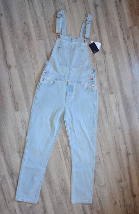 Kombinezony Nowe ogrodniczki ASOS jasne jeansy acid wasched denim 3032