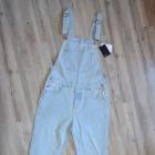 Nowe ogrodniczki ASOS jasne jeansy acid wasched denim 3032