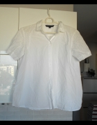 French connection biała koszula gipiura klasyka minimalizm...