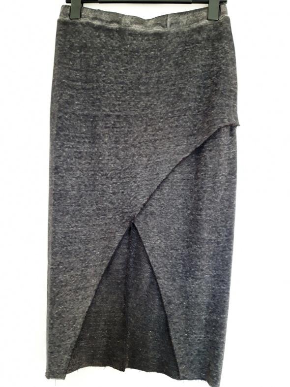grafitowa długa spódnica H&M 42...