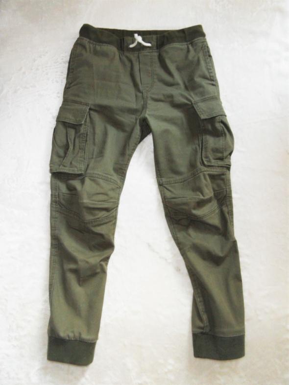 Spodnie khaki bojówki 7 8 must have H&M