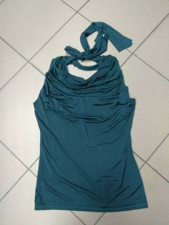 Bluzki Zielona bluzka wiskoza Plume 40 L