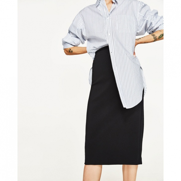 Czarna dłuższa ołówkowa spódnica Zara S jak nowa...