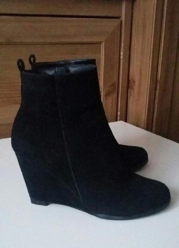 Koturny czarne buty koturny rozm 37