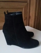 czarne buty koturny rozm 37...