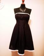 OKAZJA cena z wysyłką Nowa czarna rozkloszowana sukienka koronk...