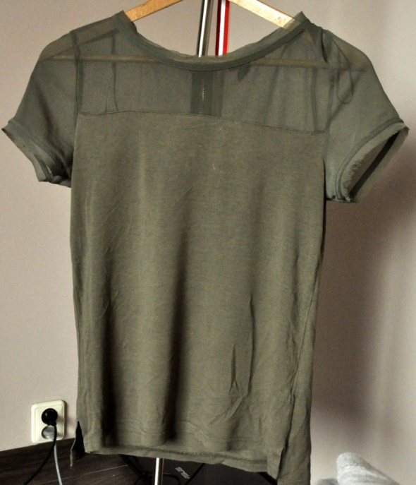bluzka khaki H&M...
