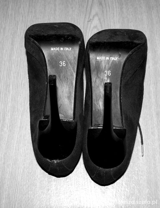 Czarne wysokie wiazane wloskie botki